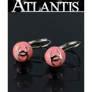 在庫処分大SALE 美品 シャネル 丸型 ココマーク ピアス ピンク SV金具 03C atlantis