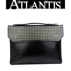 SALE クリスチャン ルブタン ビジネスバッグ ブリーフケース スタッズ 黒|atlantis