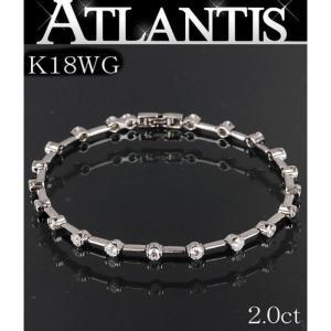 大SALE 美品 テニス ダイヤ ブレス ブレスレット K18WG 2ct 地金|atlantis