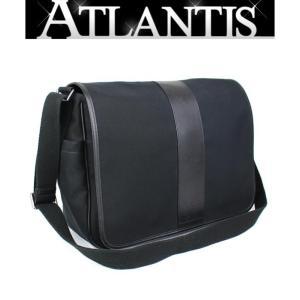 COACH コーチ メッセンジャーバッグ メンズ キャンバス 黒 atlantis