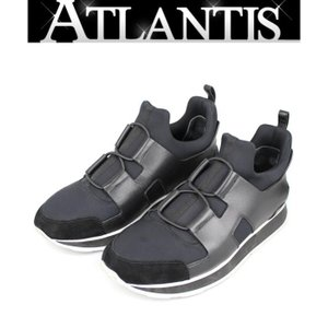 在庫処分大SALE 新作 日本未入荷 エルメス HERMES スニーカー player 靴 黒 size39|atlantis