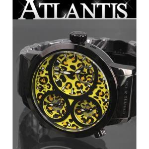 CURTIS&Co 在庫処分大SALE 未使用 50本限定 カーティス&コー ビッグタイムワールド ジャパンスペシャルリミテッド レオパード 腕時計 SUW57JPJGY-B atlantis