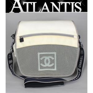 SALE シャネル CHANEL シャネルスポーツ ナイロン メッシュ ショルダー バッグ|atlantis