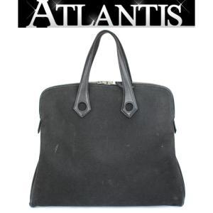 在庫処分大SALE エルメス HERMES サックイブーMM ハンドバッグ キャンバス 黒 □I刻印|atlantis