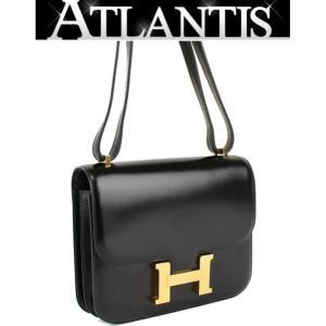 SALE 美品 エルメス HERMES ミニコンスタンス ショルダーバッグ ボックス G金具 黒|atlantis