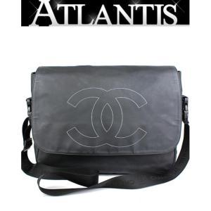 SALE シャネル CHANEL メッセンジャーバッグ ショルダーバッグ スポーツライン 黒 メンズOK|atlantis