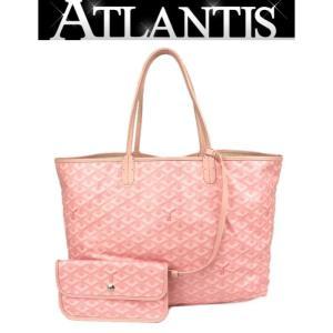 ゴヤール GOYARD ハンドバッグ サンルイPM レザー×PVC ピンク|atlantis