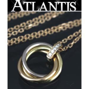 SALE 美品 カルティエ Cartier トリニティ ダイヤ ネックレス WG YG PG|atlantis