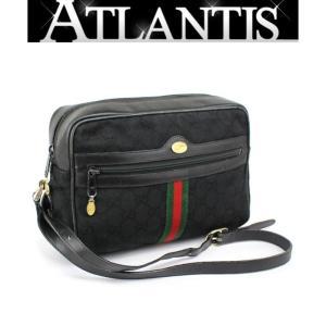 激レア グッチ GUCCI 斜め掛け ショルダーバッグ シェリーライン オールドグッチ 黒|atlantis