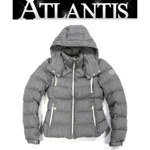 美品 モンクレール レディース ダウン ジャケット MUFLIER size00 グレー|atlantis