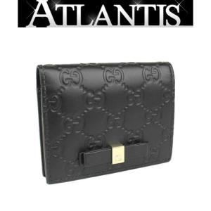 SALE 美品 グッチ GUCCI ミニ ウォレット カードケース 二つ折り 札入れ グッチシマ 406924|atlantis