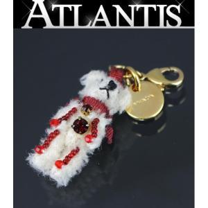 SALE 美品 プラダ PRADA キーホルダー チャーム クマモチーフ 白×赤 G金具|atlantis