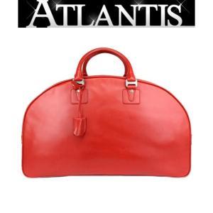 ブルガリ BVGARI ボストンバッグ 旅行鞄 レザー 赤 レッド|atlantis