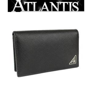 未使用 プラダ PRADA 名刺入れ カードケース レザー 黒|atlantis