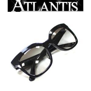 SALE 美品 プラダ PRADA サングラス プラスチック サイドロゴ 黒|atlantis