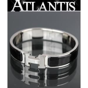 エルメス HERMES クリッククラックPM バングル ブレスレット SV金具 黒|atlantis