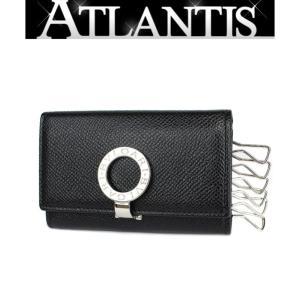美品 ブルガリ BVLGARI 6連 キーケース レザー 黒 BB金具|atlantis