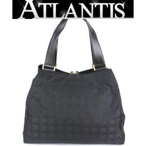 美品 シャネル CHANEL ニュートラベルライン トートバッグ ナイロン 黒|atlantis