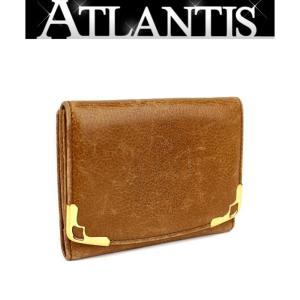カルティエ Cartier コンパクト ウォレット 二つ折り Wホック 財布 マストライン|atlantis