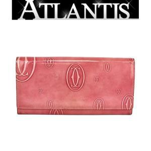 カルティエ Cartier ファスナー付き 長財布 ハッピーバースデー ピンク|atlantis
