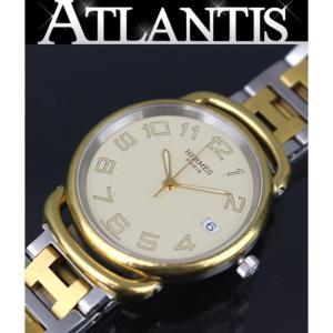 エルメス HERMES プルマン メンズ 腕時計 クォーツ SS コンビブレス PU 1.540|atlantis