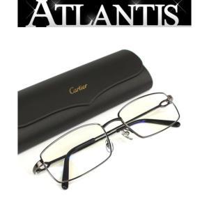 美品 カルティエ Cartier メガネ フレーム 眼鏡 黒系 伊達眼鏡|atlantis