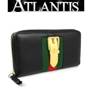 グッチ GUCCI ジップアラウンド ウォレット ラウンドファスナー 長財布 シルヴィ 黒 ブラック 476083|atlantis