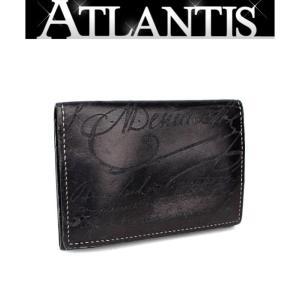 ベルルッティ Berluti カードケース 名刺入れ カリグラフィ ブラック|atlantis