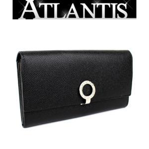 ブルガリ BVLGARI 二つ折り ファスナー付き 長財布 レザー 黒|atlantis
