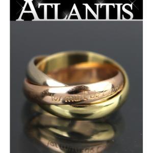 美品 カルティエ Cartier 3連 トリニティリング スリーカラー YG WG PG size48|atlantis