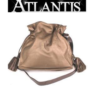 美品 ロエベ LOEWE フラメンコ 30 斜め掛け ショルダー バッグ ブロンズ 茶|atlantis