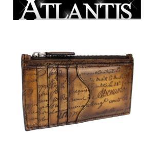 極美品 ベルルッティ Berluti コインケース カードケース 小銭入れ カリグラフィ 茶|atlantis