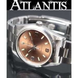 ロレックス ROLEX 14000 エアキング ブラウン文字盤 メンズ腕時計 W番 atlantis