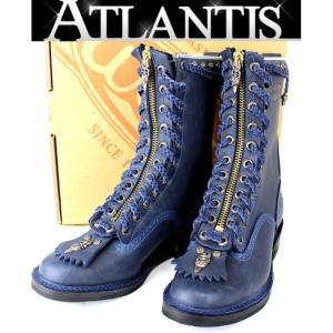CHROME HEARTS 銀座 SALE! クロムハーツ ウエスコ ジョブマスター カスタム オーダー ネイビー メンズ ブーツ 8E|atlantis