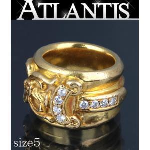 CHROME HEARTS 銀座 クロムハーツ ダガー ダイヤ リング 22K 約5号|atlantis