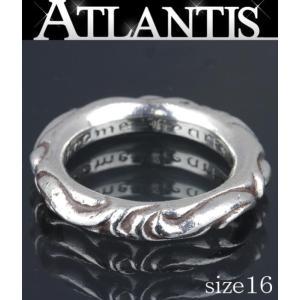 CHROME HEARTS 銀座 クロムハーツ スクロール バンド リング 指輪 SV925 約16号|atlantis