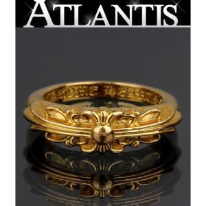 CHROME HEARTS 銀座 クロムハーツ ベビークラシック リング フローラルクロス 22K 約10号|atlantis