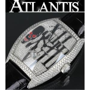 FRANCK MULLER 銀座 フランクミュラー ゴシックアロンジェ カスタム フルダイヤ 8880B SC DT トノーカーベックス メンズ 腕時計|atlantis