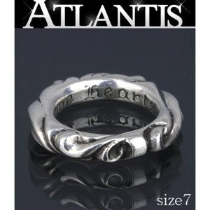 CHROME HEARTS 銀座 クロムハーツ スクロールバンドリング 指輪 SV925 約7号|atlantis