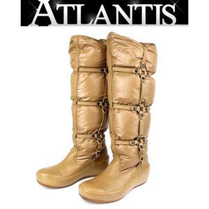 MONCLER 銀座 モンクレール ロングブーツ ベージュ size39 靴 レディース|atlantis