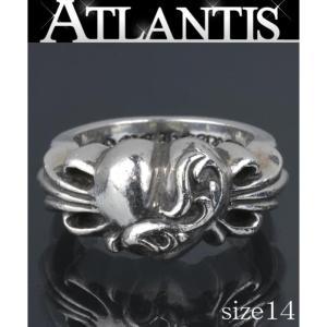 CHROME HEARTS 銀座 クロムハーツ フローラルハート リング SV925 約14号 15.0g|atlantis