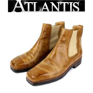 Berluti 銀座店 在庫処分大SALE ベルルッティ サイドゴアブーツ ブラウン 靴 size8|atlantis