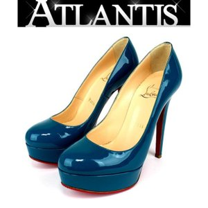 Christian louboutin 銀座店 大SALE!! 未使用 クリスチャンルブタン パンプス  靴 エメラルドグリーン エナメル size35 1/2|atlantis