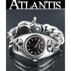 CHROME HEARTS 銀座店 激レア 最初期型 クロムハーツ ロレックス ウォッチケース クリップ ウォッチブレス CHX 1992刻印 黒文字盤 腕時計|atlantis