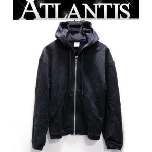 銀座店 大SALE クロムハーツ メンズ ホースシューレザーパーカー ネイビー sizeM|atlantis