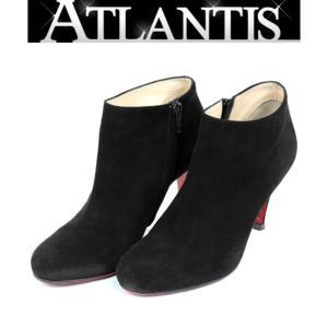 Christian louboutin 銀座店 クリスチャンルブタン ショートブーツ  靴 ブーティ スエード size37 黒|atlantis