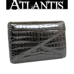 銀座店 大SALE ボッテガ・ヴェネタ クロコダイル クラッチバッグ セカンドバッグ 黒|atlantis