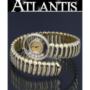 Chopard 銀座店 ショパール ハッピーダイモンド スネーク 239575-4066 レディース 腕時計 ゴールド atlantis