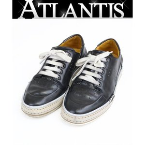 Berluti 銀座店 ベルルッティ プレイタイム レザー スニーカー カリグラフィ メンズ 靴 黒 size7|atlantis