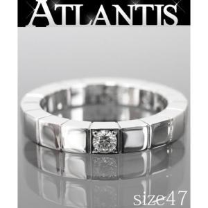 Cartier 銀座店 カルティエ ラニエール 1P ダイヤリング 750 WG size47 ホワイトゴールド|atlantis